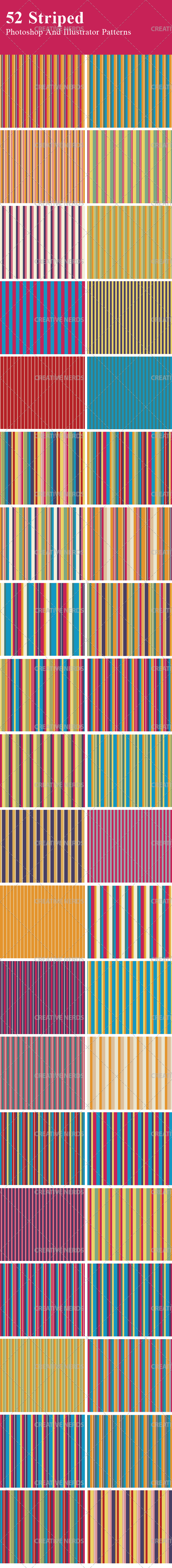 stripes pattern big preview 50+ Seamless Striped Vector Patterns