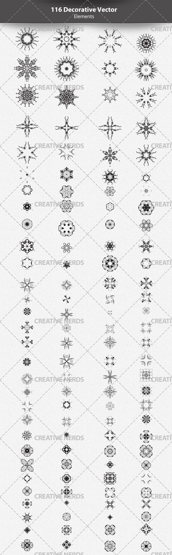 decorative elements preview +115 Abstract Decorative Vector Elements