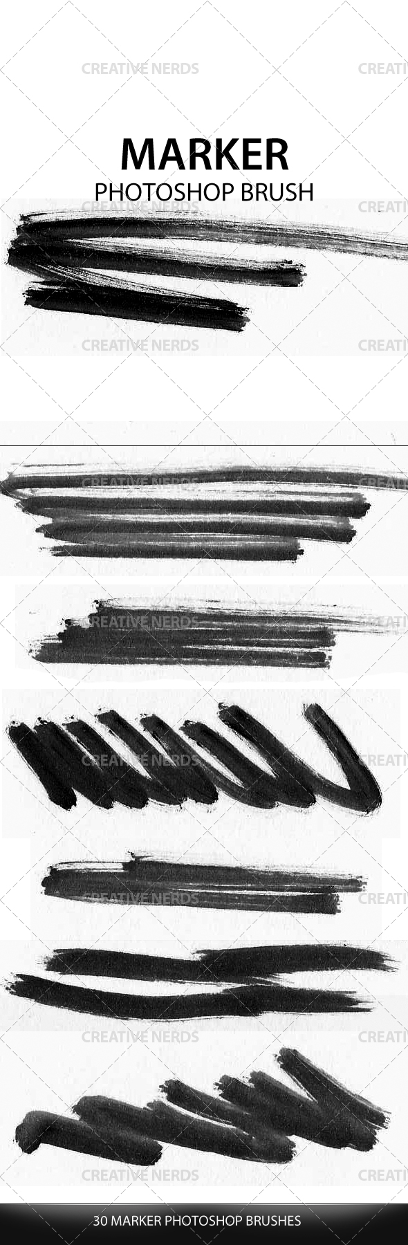 marker photoshop brush preview 30 Marker Photoshop Brush Strokes