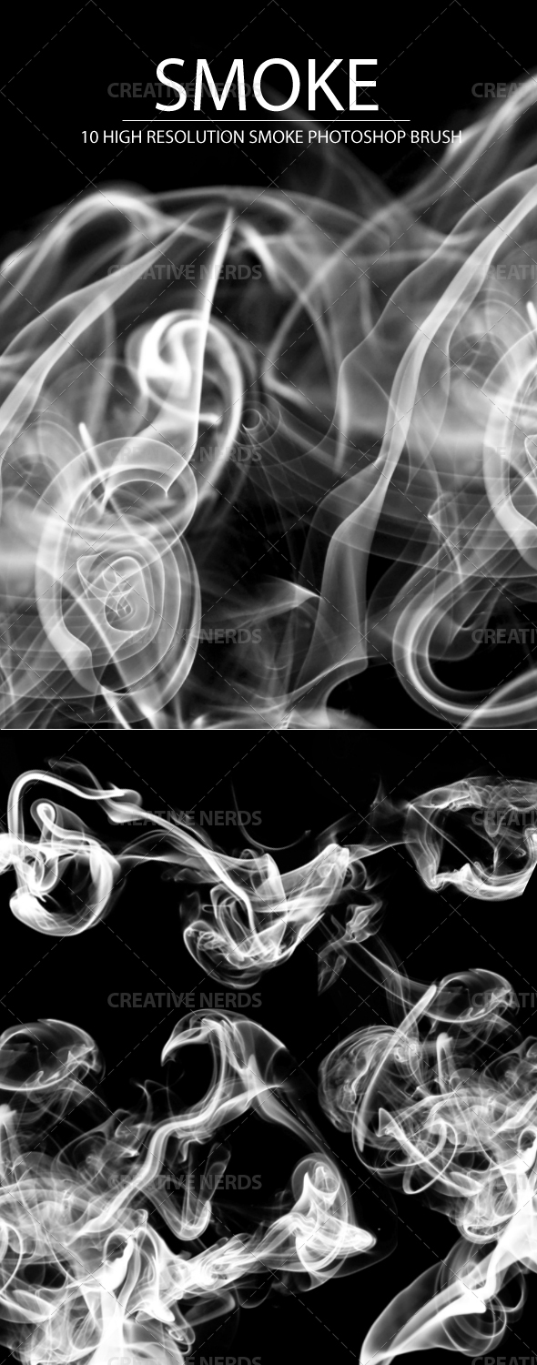 preview3 10 Realistic Smoke Photoshop Brushes
