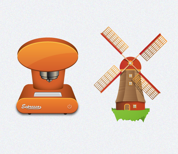 preview4 Espresso Machine And Windmill Icons