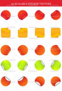 sticker vectors 206x300 sticker vectors