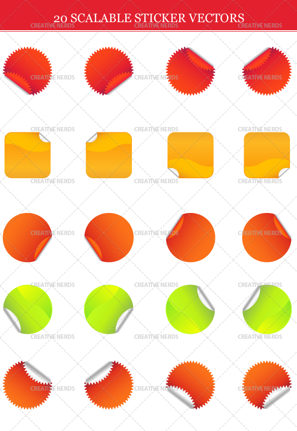 sticker vectors 20 Scalable Sticker Vectors