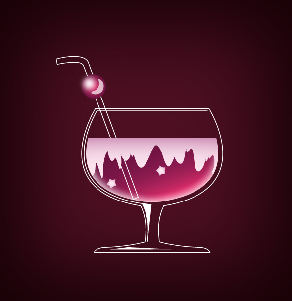 cocktail preview Colorful Vector Cocktail Tutorial Source File