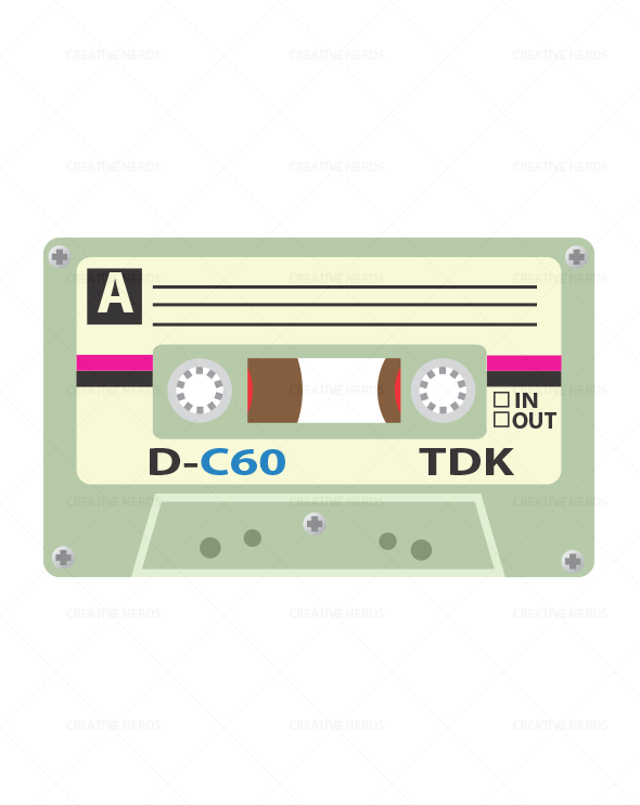cassette tape illustration Cassette tape vector Illustration