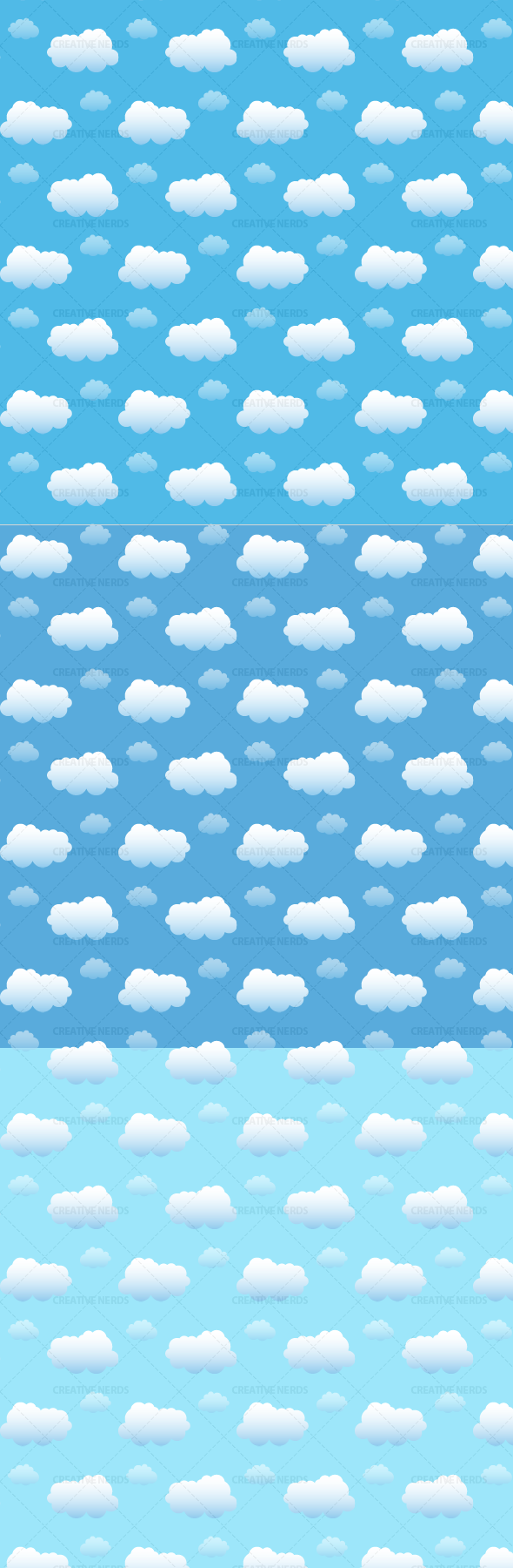 clound water marked pattern Beautiful Cloud Seamless Vector Pattern