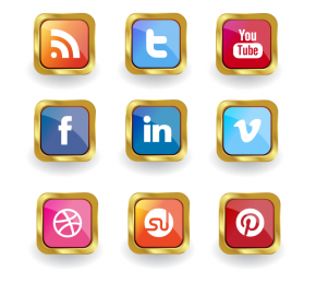 golden-social-media-icon-set