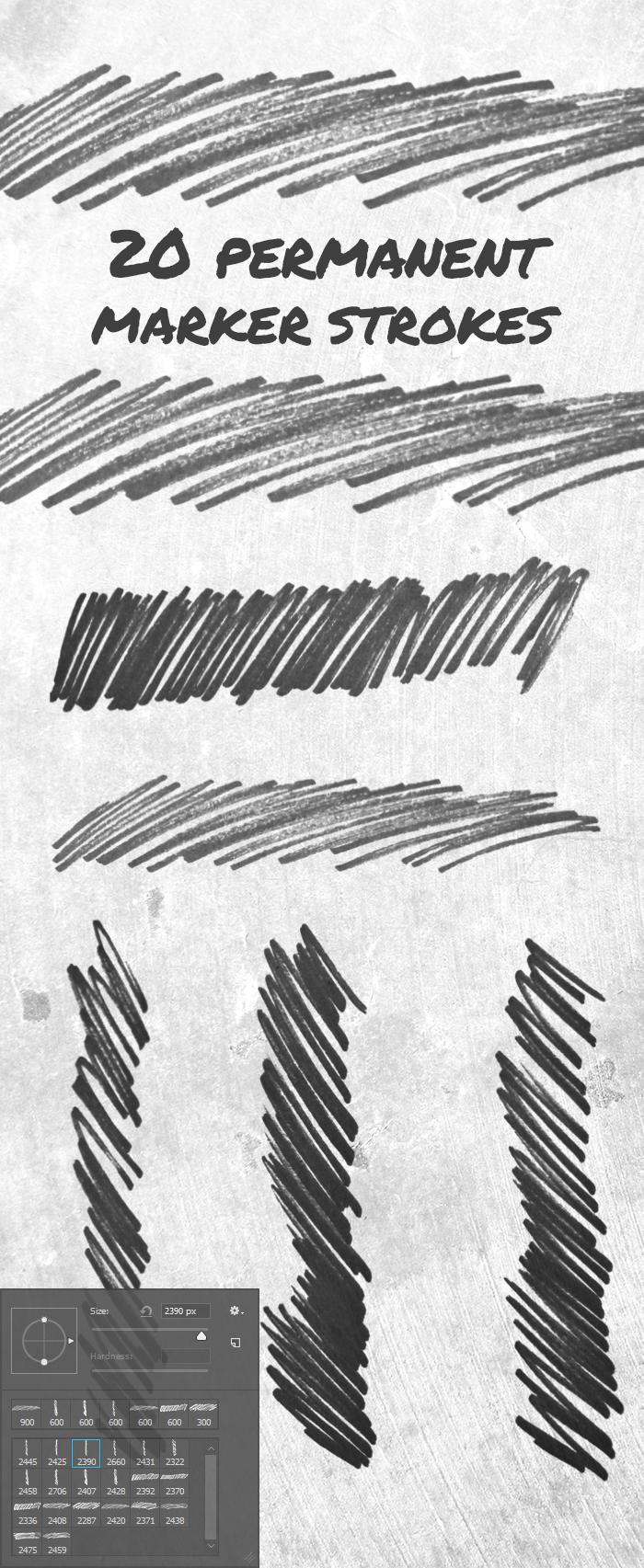 permant marker 1 20 permanent marker strokes