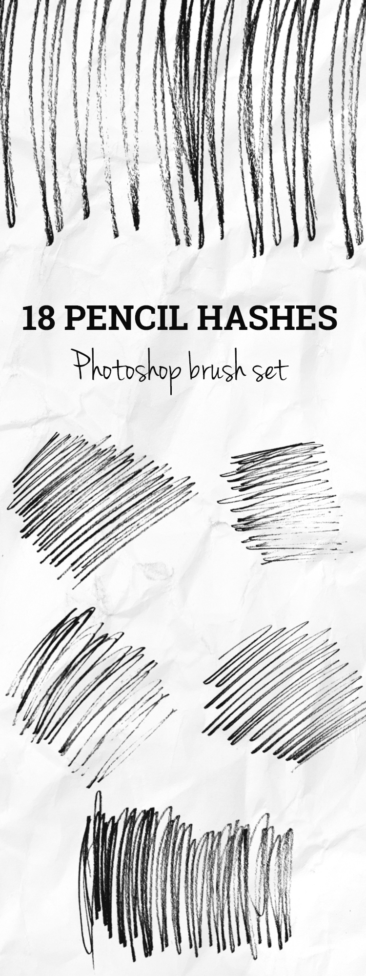pencil hashes photoshop brush set 18 Pencil hashes Photoshop brush set