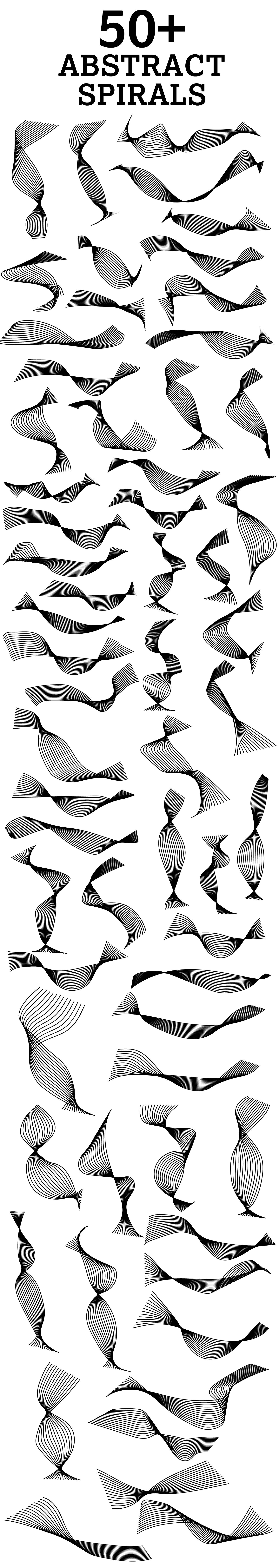 50 abstarct spirals 1 50+ Abstract spirals vectors