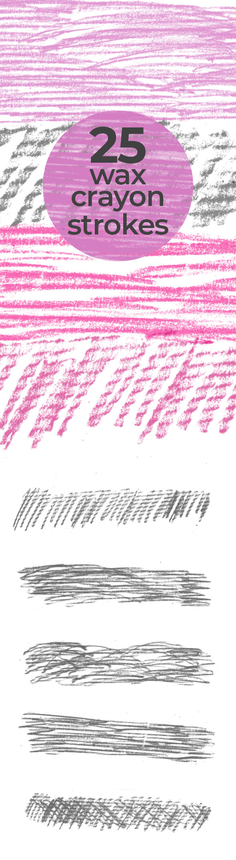 wax crayon strokes 25 Wax crayon Photoshop brush strokes
