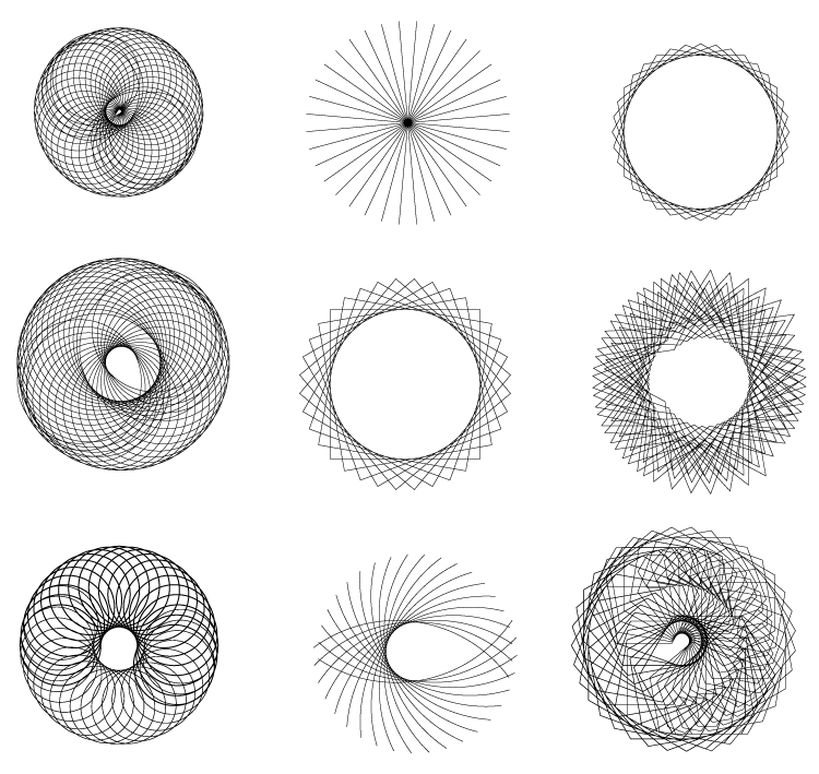 spirograph vector shapes Abstract Spirograph vector shapes