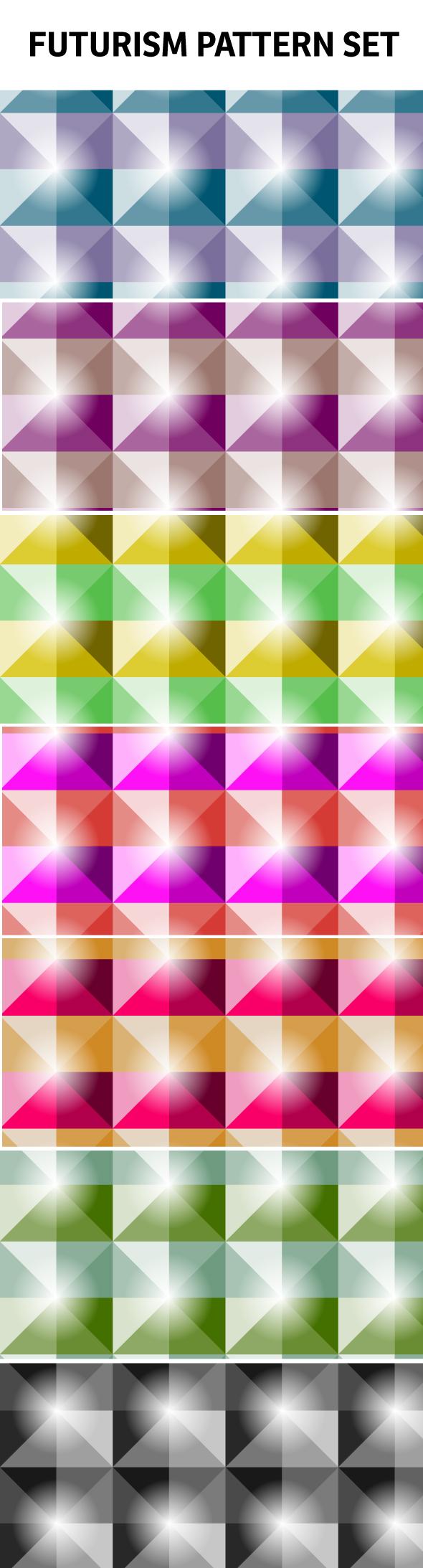 futursim big Futurism style seamless vector pattern