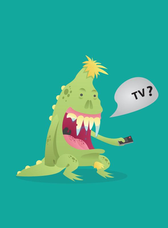 monster illustration Monster vector illustration