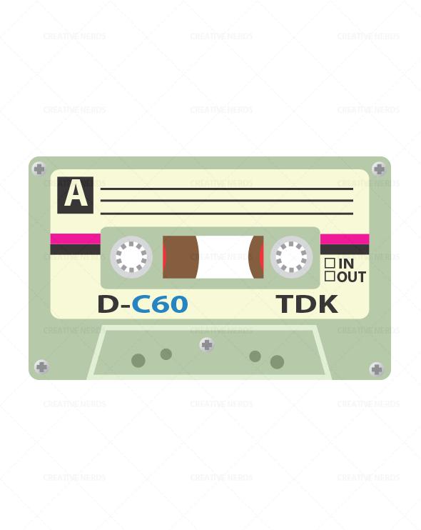 cassette tape illustration Cassette tape vector Illustration