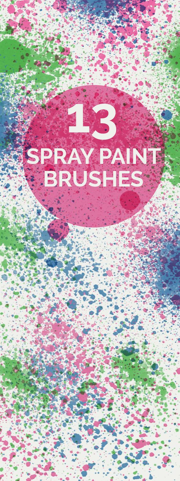 spray paint brushes small 1 13 Spray paint Photoshop brushes