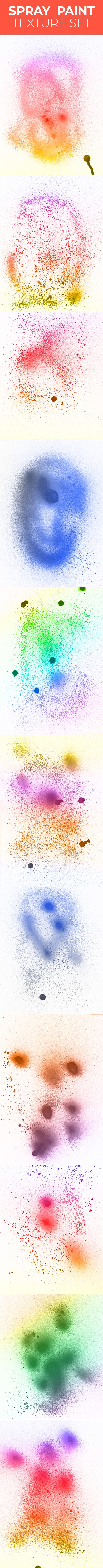 spray paint texture set 10 Hi res spray paint textures