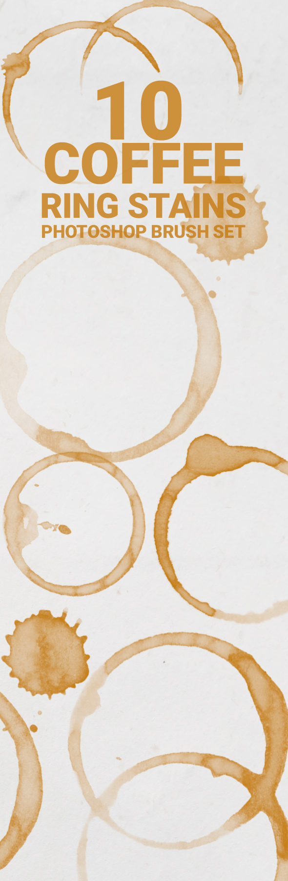 coffee ring stains 10 Coffee ring stains Photoshop brush set
