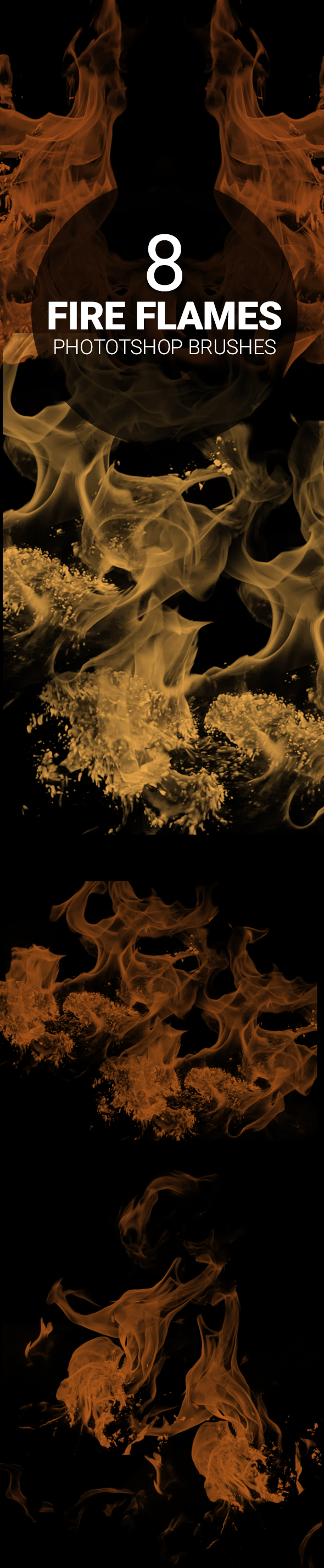fire photoshop brush set 8 fire flames Photoshop brush set