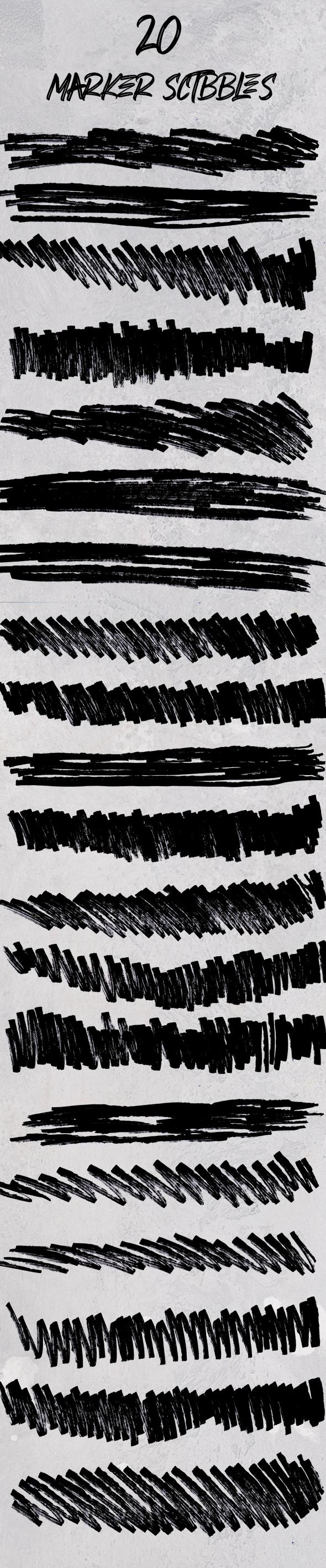 marker-scribbles