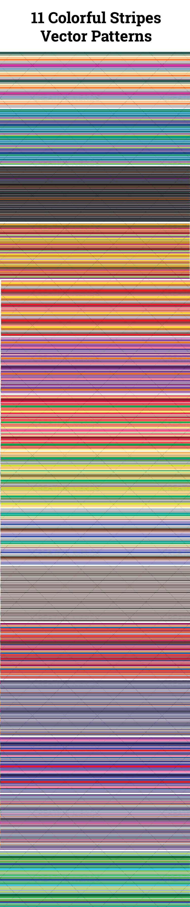 11 colorful stripes seamless vectorpattern Creative Nerds2 11 colorful stripes seamless vector patterns