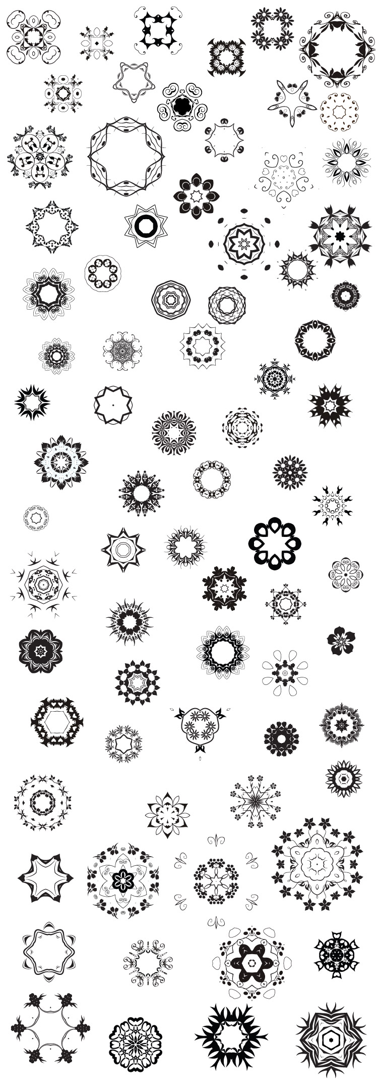 80 abstract decorative vectors 80+ Abstract decorative vector elements