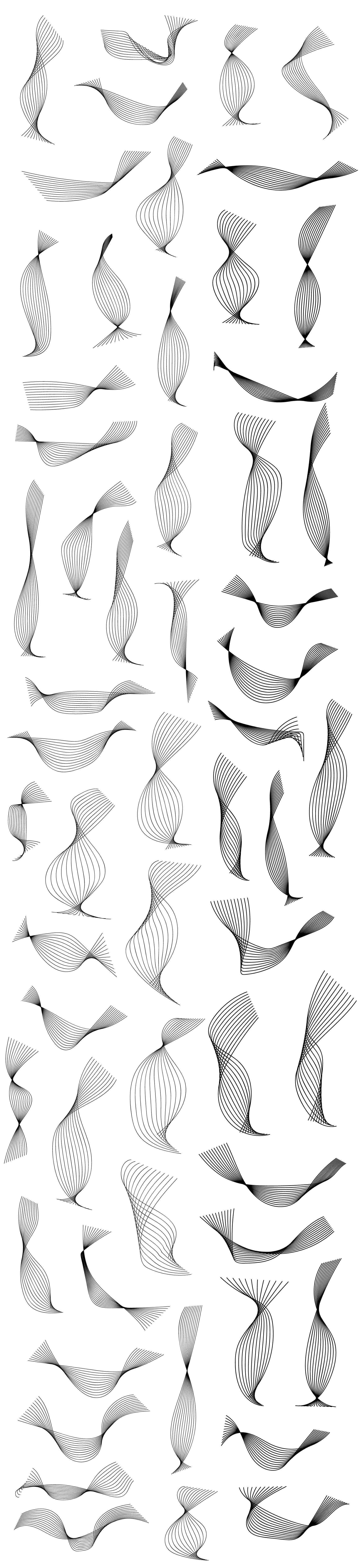 50-abstarct-spirals-vectors