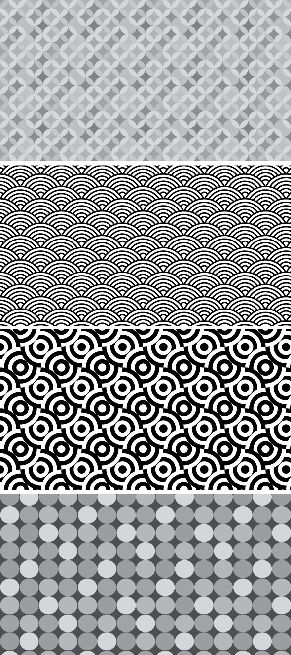 abstract vector pattern set 4 Abstract seamless vector set